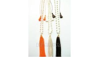 fresh water pearls pendant tassels necklaces