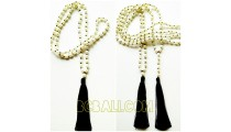 full pearls shells necklaces tassels organic