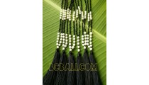 handmade tassels original pearls shells necklace