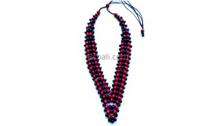 bali necklace ethnic design made by wooden