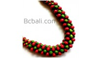bali wooden beads necklace unique Chokers