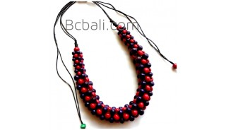 bali chokers wooden seeds beads necklaces