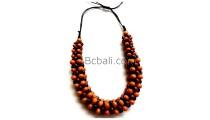solid wood seeds beaded choker necklaces ethnic handmade