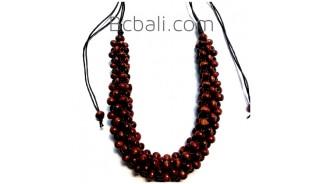 4color shown unique chokers necklaces wooden