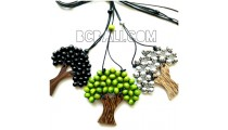 string necklaces pendant wooden palm