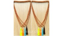 4color mala rudrasca wood necklaces yoga accessories
