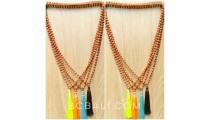 4color mala rudrasca wood necklaces yoga accessories