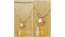 beads necklaces tassels stopper golden silver
