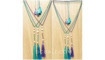 beads stone necklaces tassels fashion with fresh pearls