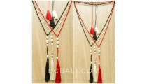 beads stone necklaces tassels fashion with fresh water pearl