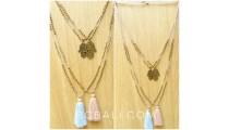hamza hand golden tassel necklaces pendant