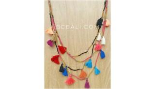 multi tassels charm tassels necklaces fashion