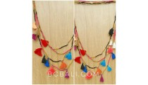 multi tassels charm tassels necklaces fashion