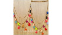 multi tassels necklaces mix colors charm fashion