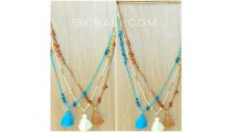 small beads stopper with shells necklaces tassels bali