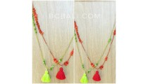 tassels necklaces beads shells small design