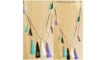 triangle tassels necklaces beads fashion 4 color