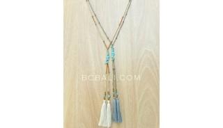 two color new designs necklaces tassels turquoise