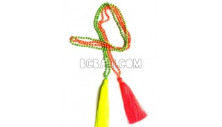 pyrus beads stone necklaces tassels long pendant