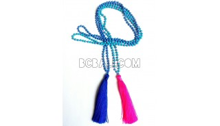 necklaces tassels beads stone pendant long seed