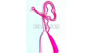 tassel beads stone necklaces handmade bali