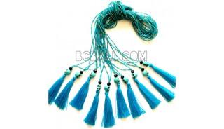 beads tassel necklaces pendant skull fashion