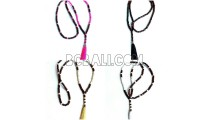 long tassel necklaces pendant bead wooden