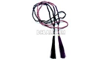 long necklaces tassel bead metalic crystal bali