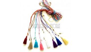 necklaces tassels sugar beads small silver