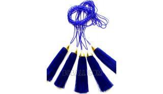 small beads tassel necklaces pendant golden chrome