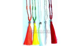 tassel necklace meditation budha yoga