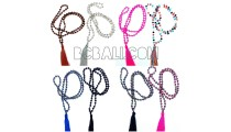 tassel necklaces beads crystal pendant