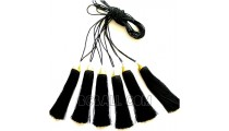 tassels necklaces small beads golden chrome pendant