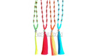 yoga necklaces budha tassel pendant beads