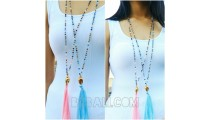 budha tassels chrome necklaces pendant crystal