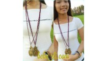 crystal beads necklaces leaves pendant golden