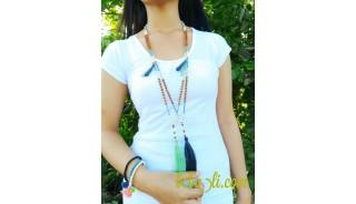 fashion handmade necklaces tassel genetri bead