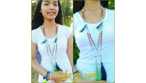 fashion handmade necklaces tassel genetri bead