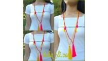fashion necklace bead tassel triple charming bali