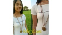 golden pendant hamza bronze hand necklaces bali