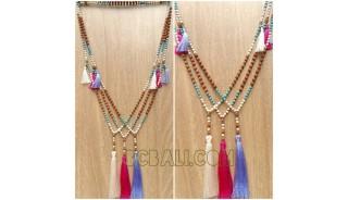handmade necklaces tassels tree color genetri