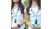 tassels beads wood mala natural handmade