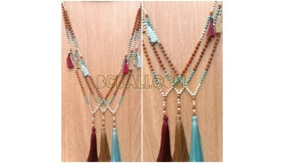 tree color tassel rudraksha bead handmade bali