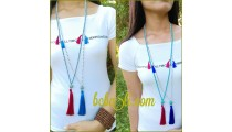 triple tassels necklaces beads fashion pyrus