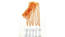 bead necklace tassels crystal bali fashion orange