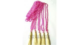 bead necklace tassels crystal bali fashion designs