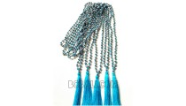 bead necklace tassels crystal long bali fashion