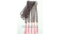beaded necklace tassels crystal bali fashion