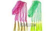 crystal bead necklaces tassels mono color long