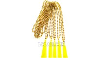 crystal beaded necklace tassel mono color